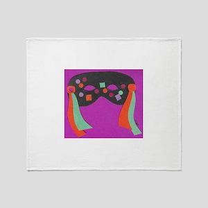Purple Mask Throw Blanket