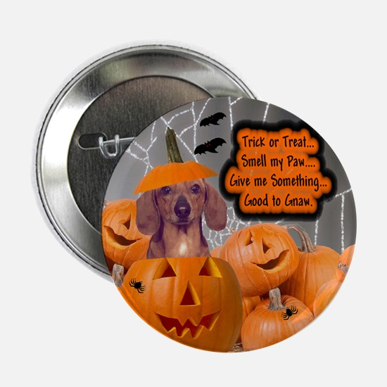Dachshund Halloween (Red) Button