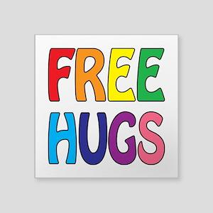 "Free Hugs Square Sticker 3"" x 3"""