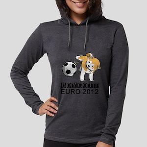 Boycott Euro 2012 Womens Hooded Shirt