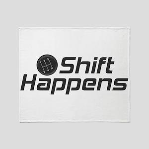 Shift Happens Throw Blanket