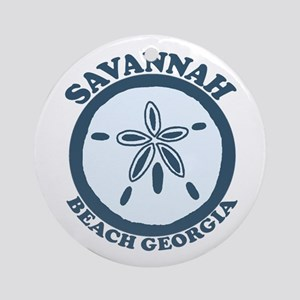 Savannah Beach GA - Sand Dollar Design. Ornament (