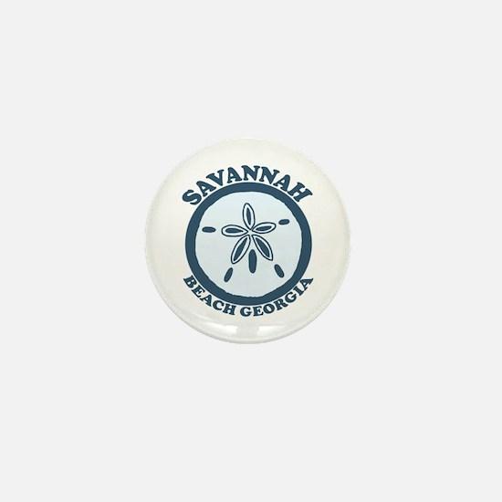 Savannah Beach GA - Sand Dollar Design. Mini Butto