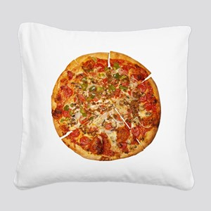Thank God for Pizza Square Canvas Pillow