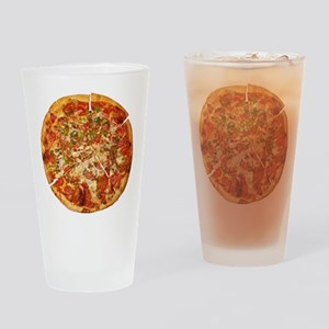 Thank God for Pizza Drinking Glass
