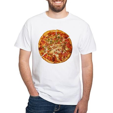 Thank God for Pizza White T-Shirt