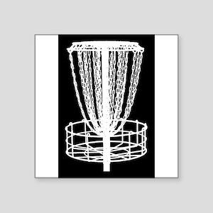 Sticker - Disc Golf Catcher White On Black Sticker