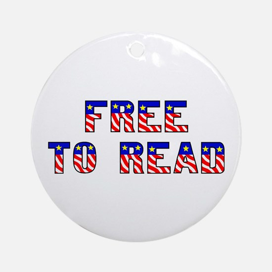 Free to Read Ornament (Round)