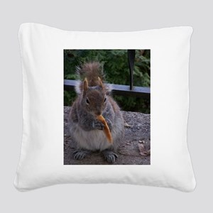 Cheetos for the squirrel Square Canvas Pillow