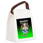 gamergirlsquare Canvas Lunch Bag