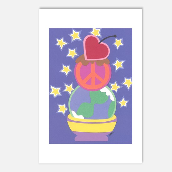 Love Peace & Joy Postcards (Package of 8)