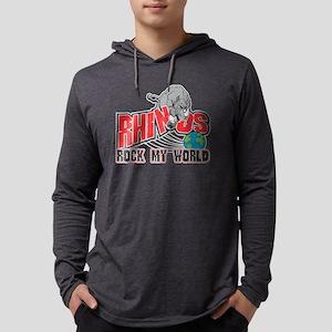 RhinosRockWorld Mens Hooded Shirt