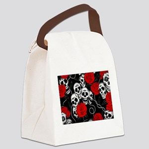 Cool Kids Skulls and Roses Designs Canvas Lunch Ba
