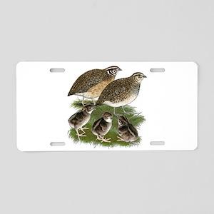 Coturnix Quail Family Aluminum License Plate