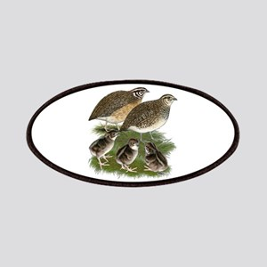 Coturnix Quail Family Patches
