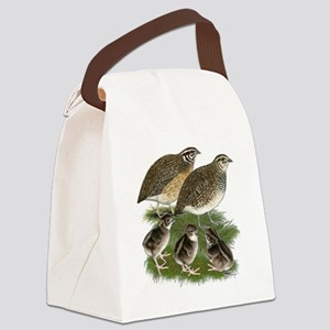 Coturnix Quail Family Canvas Lunch Bag