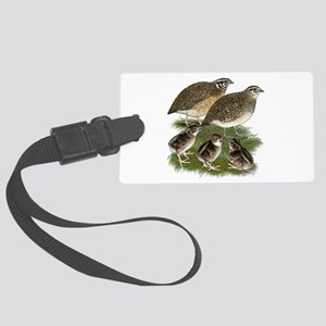 Coturnix Quail Family Large Luggage Tag