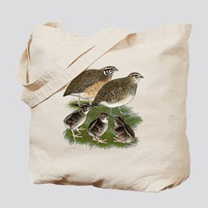 Coturnix Quail Family Tote Bag