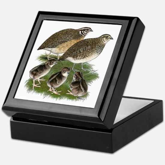 Coturnix Quail Family Keepsake Box