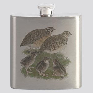 Coturnix Quail Family Flask