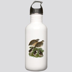 Coturnix Quail Family Stainless Water Bottle 1.0L