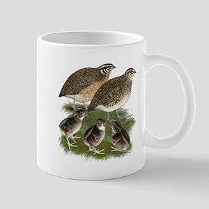 Coturnix Quail Family Mug