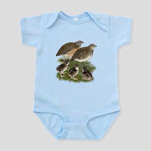 Coturnix Quail Family Infant Bodysuit