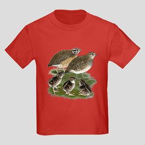 Coturnix Quail Family Kids Dark T-Shirt