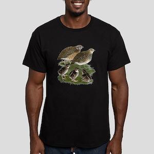 Coturnix Quail Family Men's Fitted T-Shirt (dark)