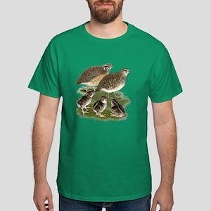 Coturnix Quail Family Dark T-Shirt