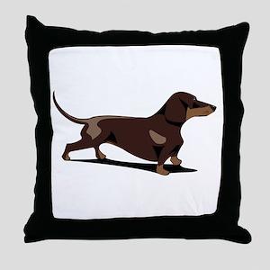 Short-haired Dachshund Throw Pillow