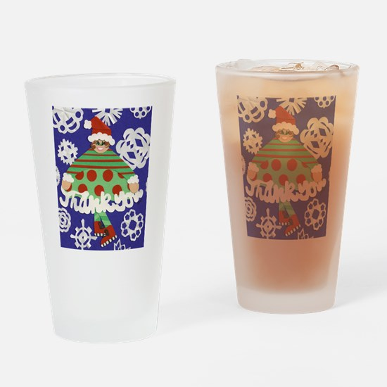 Thank You Elf Drinking Glass