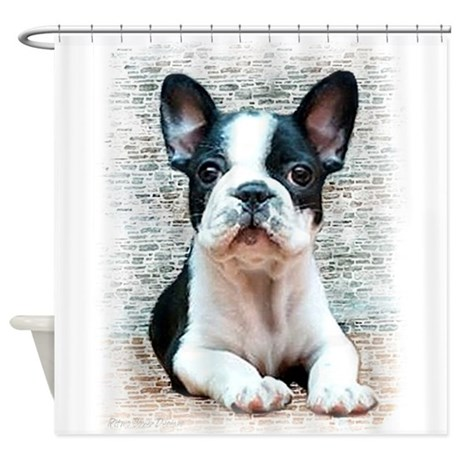 french bulldog height french bulldog shower curtain by ritmoboxers 9304