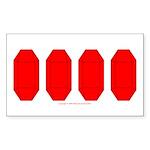 GemRD000T Sticker (Rectangle 10 pk)