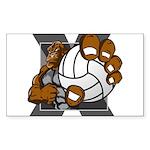 Apex Volleyball Sticker (Rectangle 10 pk)