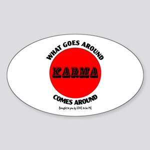 KARMA Sticker (Oval)