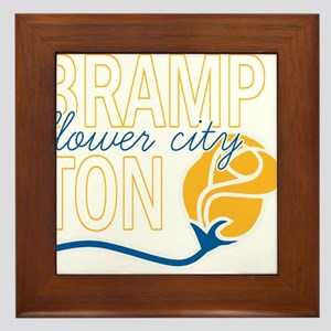 Brampton Flower City Framed Tile