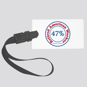 47% Reitred American Large Luggage Tag