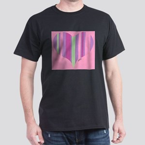 Pink Striper Dark T-Shirt