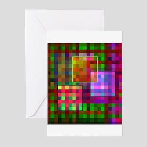 Op Art 4 Greeting Cards (Pk of 10)