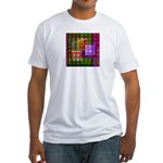 Op Art 4 Fitted T-Shirt