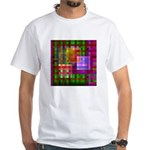 Op Art 4 White T-Shirt