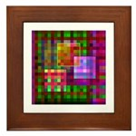 Op Art 4 Framed Tile