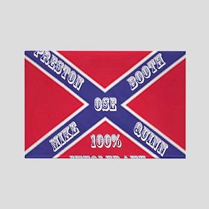 Old School Empire Flag Shirt Rectangle Magnet