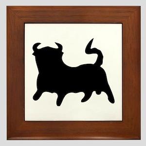 Black Bull Framed Tile