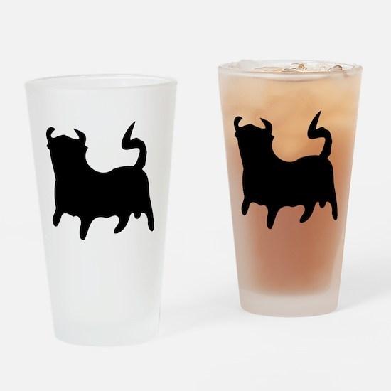 Black Bull Drinking Glass