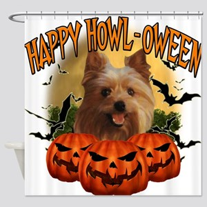 Happy Halloween Yorkie.png Shower Curtain