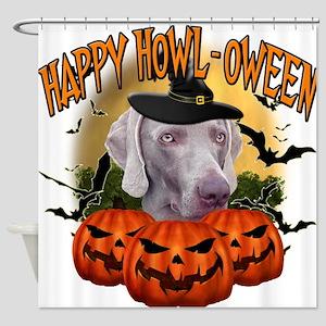 Happy Halloween Weimer.png Shower Curtain
