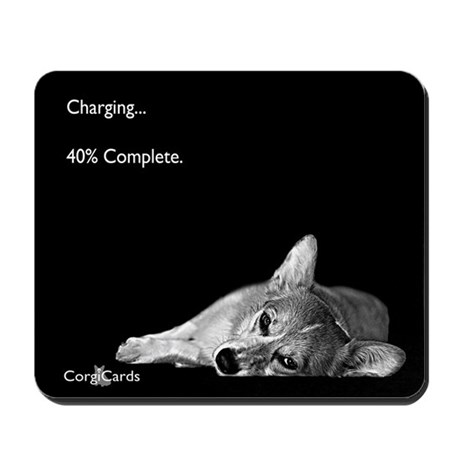Corgi Charging 40% Mousepad