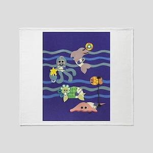 Undersea Nursery Throw Blanket
